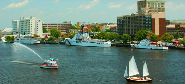 The inner harbor at Wilmington