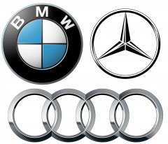 BMW Mercedes Audi logos1 750x643 By The Numbers: U.S. luxury car sales in April 2015