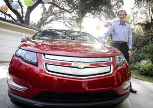 Bob and his Chevy Volt Hybrid Electric Car