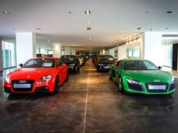 Cars on display at the Audi Approved Plus