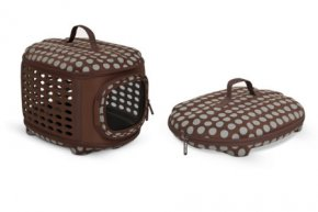 Petmate Curvations Luxury Carrier- Flat