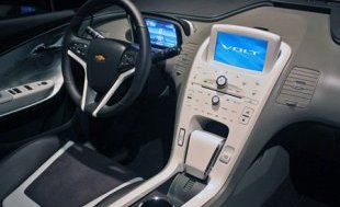 The interior of the 2012 Chevy Volt